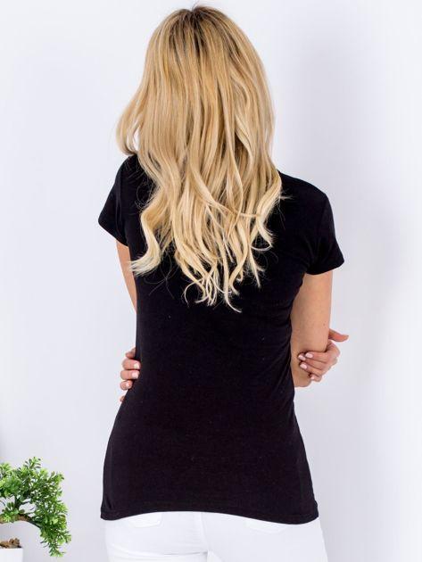 Czarny t-shirt SUPER MAMA                              zdj.                              2