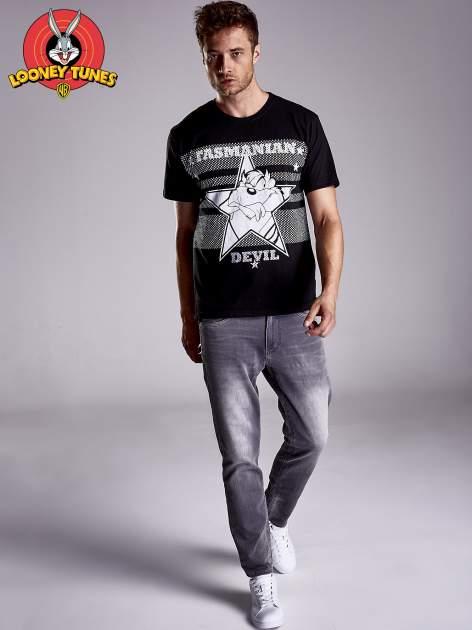 Czarny t-shirt męski LOONEY TUNES                                  zdj.                                  3