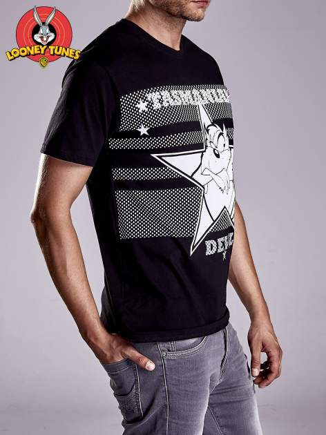 Czarny t-shirt męski LOONEY TUNES                                  zdj.                                  5