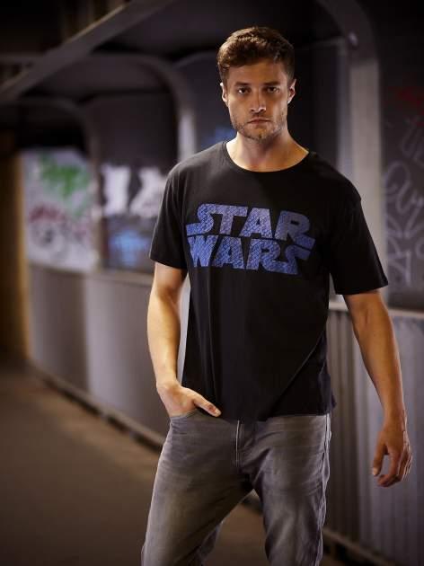 Czarny t-shirt męski z nadrukiem STAR WARS                                  zdj.                                  14