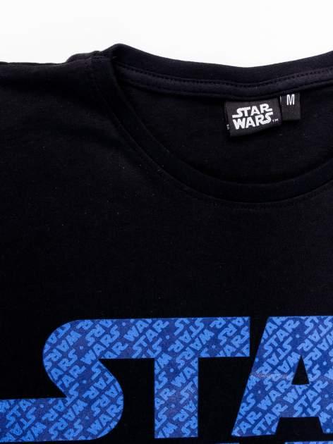 Czarny t-shirt męski z nadrukiem STAR WARS                                  zdj.                                  12