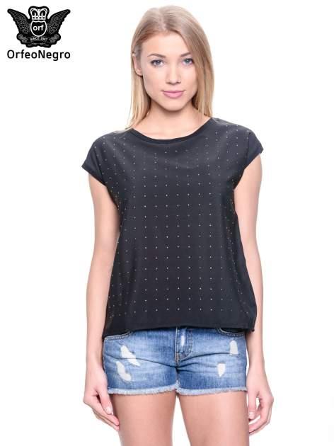 Czarny t-shirt z dżetami