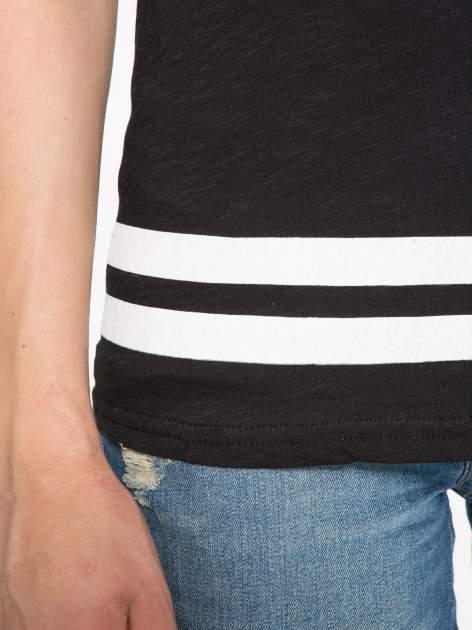 Czarny t-shirt z nadrukiem numerycznym w stylu baseball                                  zdj.                                  8