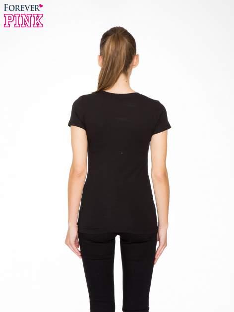 Czarny t-shirt z nadrukiem tygrysa z koroną                                  zdj.                                  4