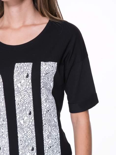 Czarny t-shirt z nadukiem DUDE z przodu i na plecach                                  zdj.                                  8