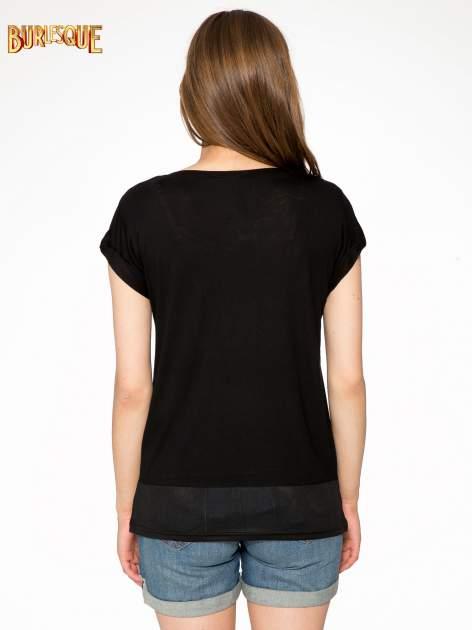 Czarny t-shirt z napisem DON'T WAIT                                  zdj.                                  4