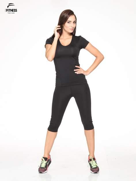 Czarny termoaktywny t-shirt sportowy z siateczką z tyłu ♦ Performance RUN                                  zdj.                                  4