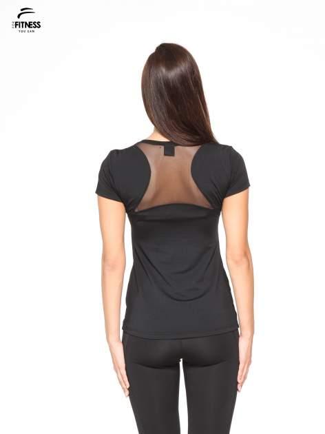 Czarny termoaktywny t-shirt sportowy z siateczką z tyłu ♦ Performance RUN                                  zdj.                                  2