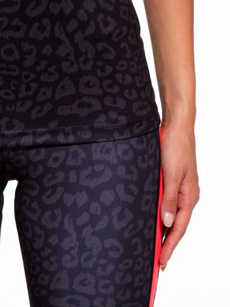 Czarny termoaktywny top sportowy w panterkę z fluoróżową wstawką ♦ Performance RUN                                  zdj.                                  7