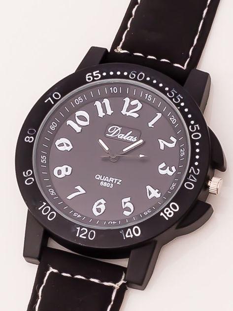 Czarny zegarek męski                              zdj.                              3