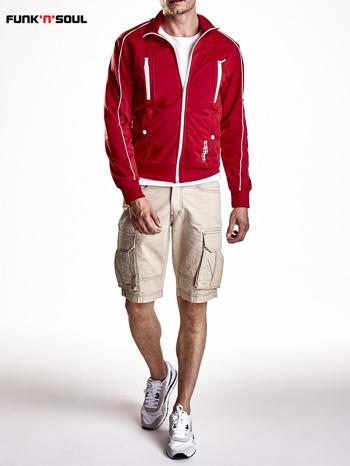 Czerwona bluza męska z kieszeniami na suwak Funk n Soul                                  zdj.                                  7