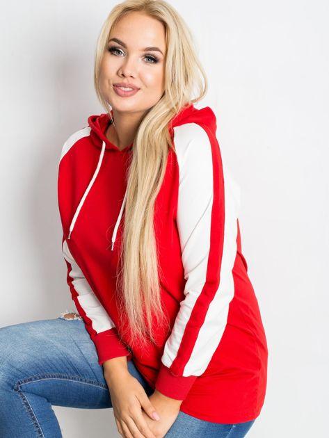 Czerwona bluza plus size Fair