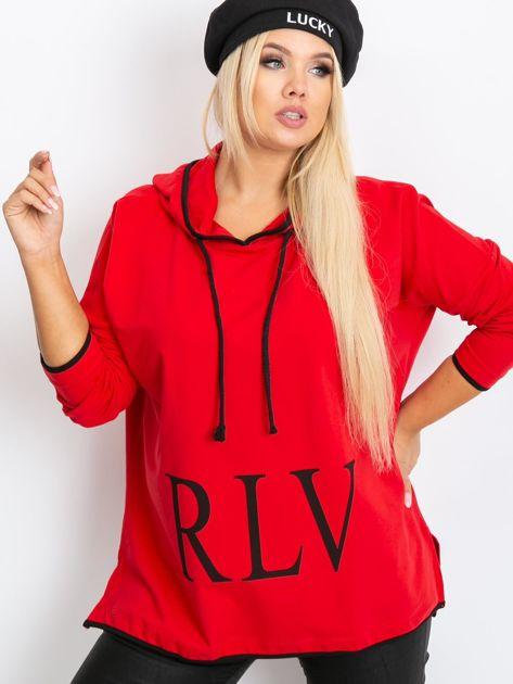 Czerwona bluza plus size Skip                              zdj.                              1