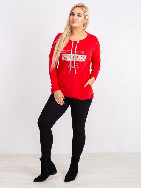 Czerwona bluza plus size Twinkle                              zdj.                              4