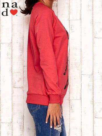 Czerwona bluza z motywem sowy i łapacza snów                                  zdj.                                  3