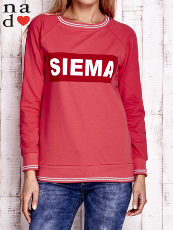 Czerwona bluza z napisem SIEMA
