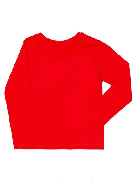 Czerwona bluzka dziecięca z dinozaurami                              zdj.                              2