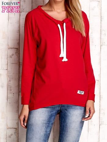 Czerwona bluzka z troczkami                                  zdj.                                  1