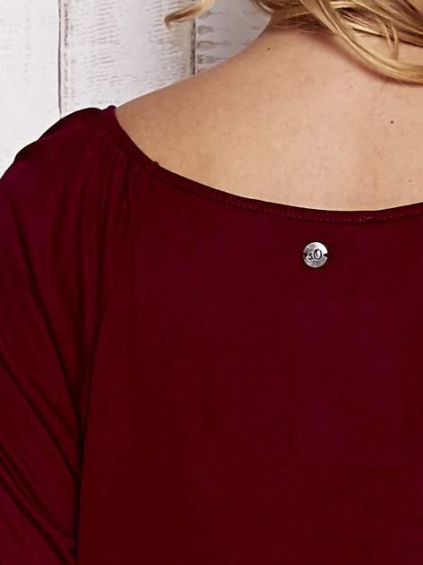 Czerwona bluzka ze ściągaczem na dole                                  zdj.                                  6
