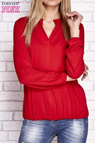 Czerwona bluzka ze ściągaczem na dole                                  zdj.                                  1
