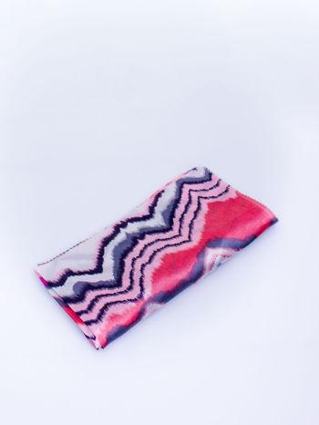 Czerwona chusta apaszka w wielobarwne wzory                                  zdj.                                  3