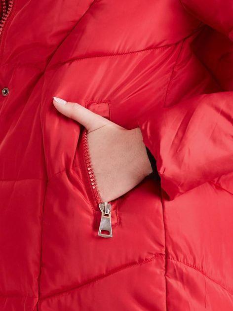 Czerwona damska kurtka zimowa                              zdj.                              9