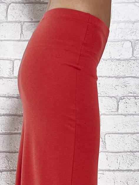 Czerwona długa spódnica maxi z rozporkiem                                  zdj.                                  7