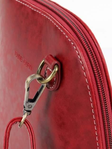 Czerwona elegancka listonoszka z odpinanaym paskiem                                  zdj.                                  5