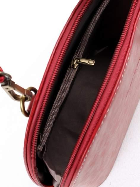 Czerwona elegancka listonoszka z odpinanaym paskiem                                  zdj.                                  8