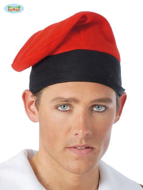 Czerwona katalońska czapka męska na imprezę                              zdj.                              1