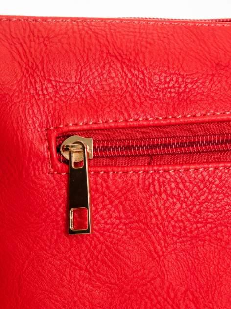 Czerwona kopertówka z dżetami motyw czaszki                                  zdj.                                  5