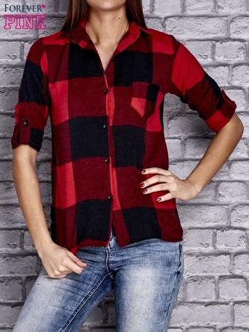 Czerwona koszula w szeroką kratę                                  zdj.                                  1