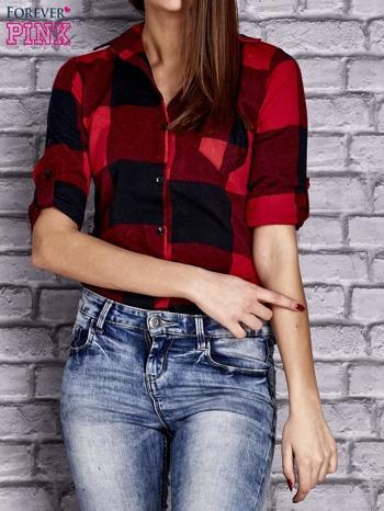 Czerwona koszula w szeroką kratę                                  zdj.                                  5