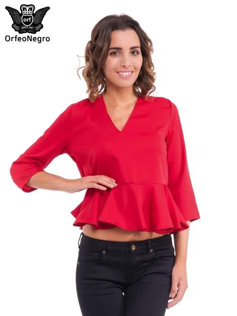 Czerwona koszula z baskinką                                  zdj.                                  1