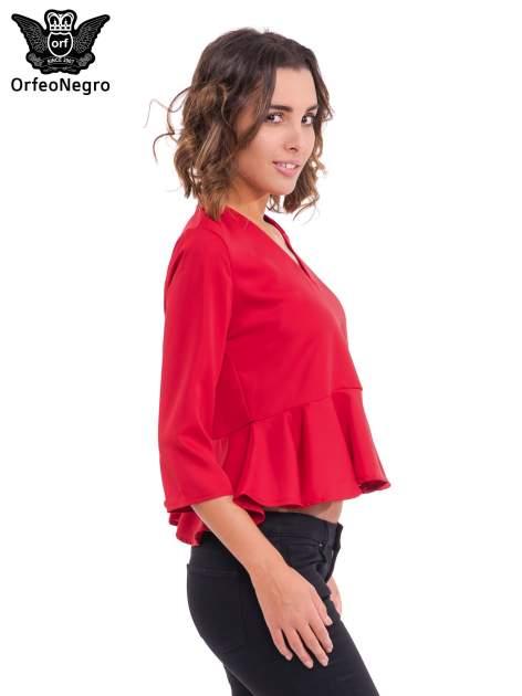 Czerwona koszula z baskinką                                  zdj.                                  3
