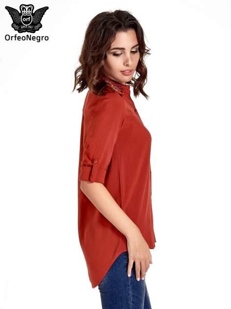 Czerwona koszula z haftowanym kołnierzykiem                                  zdj.                                  5