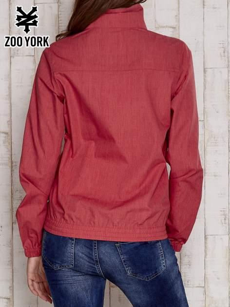 Czerwona kurtka ze stójką i ściągaczem na dole                                  zdj.                                  6