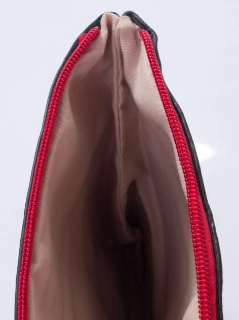 Czerwona listonoszka z odpinanym paskiem                                  zdj.                                  5