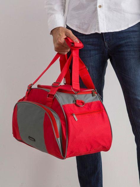 Czerwona męska torba                              zdj.                              3