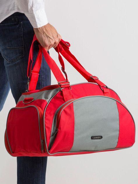 Czerwona męska torba                              zdj.                              4