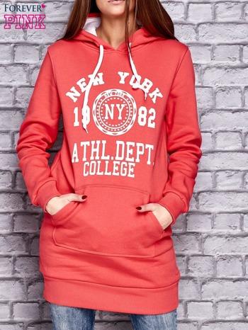 Czerwona ocieplana bluza z kapturem                              zdj.                              1