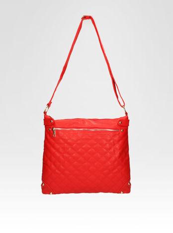 Czerwona pikowana torebka na ramię                                  zdj.                                  5
