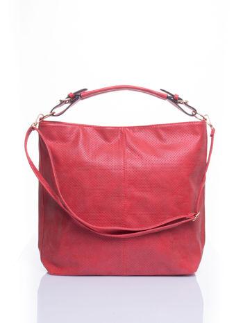Czerwona siateczkowa torba hobo                                  zdj.                                  1