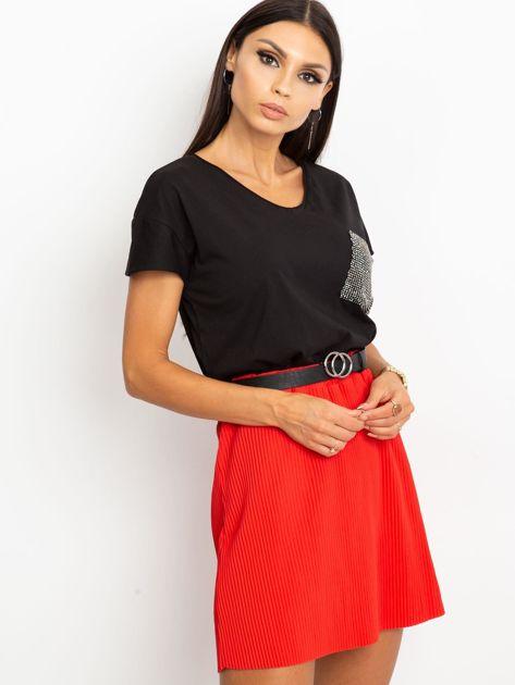 Czerwona spódnica Delta                              zdj.                              3