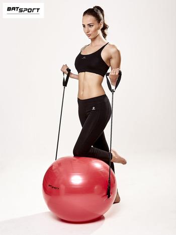 Czerwona średnia piłka fitness z ekspanderami                                  zdj.                                  10