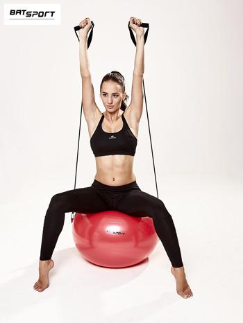 Czerwona średnia piłka fitness z ekspanderami                                  zdj.                                  8