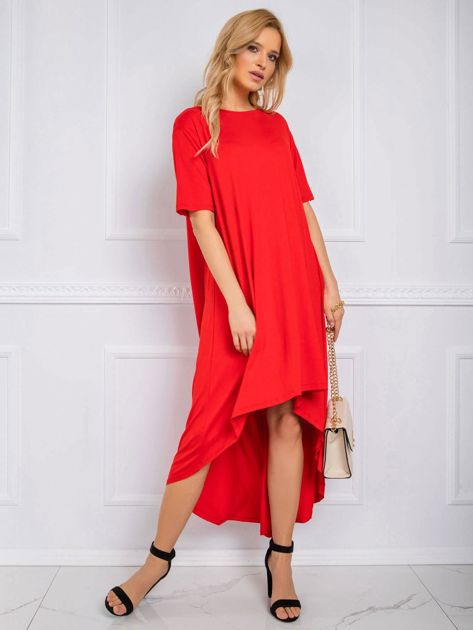 Czerwona sukienka Casandra RUE PARIS