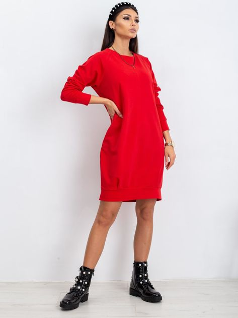Czerwona sukienka Cristine                              zdj.                              9