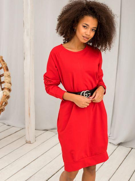 Czerwona sukienka Cristine                              zdj.                              5
