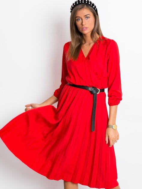 Czerwona sukienka Gingham